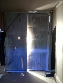 Light shining through large ajar barn door - Atmospheric inspiration