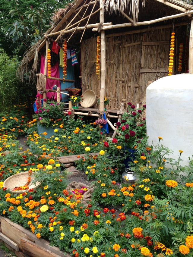Orange flowers house - building inspiration